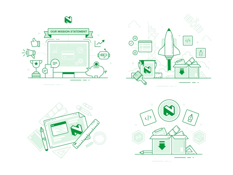 Nedbank spot illustrations