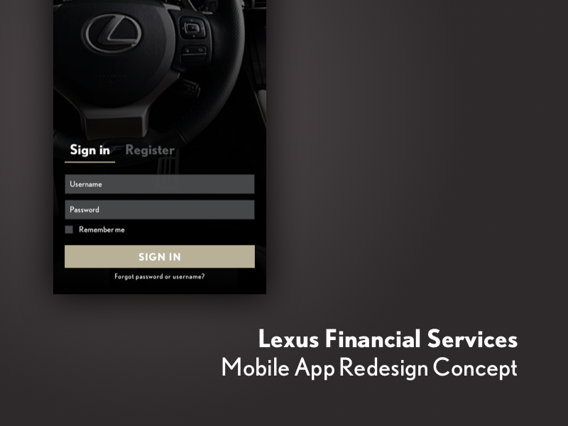 Lexus Financial Services >> Lexus Financial Services Mobile App Redesign Concept By