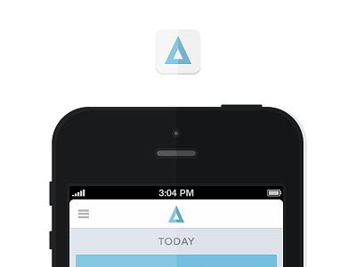 Coming Soon - Minimal iphone minimal 2-tone ios blue