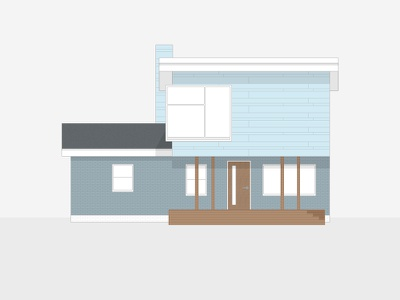 2129 Wisteria Way house swatches architecture minimal