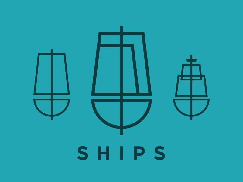 Ships boats boat ship fat lines minimal mnml