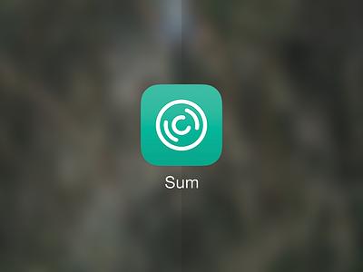 Sum App Icon wip ios app app icon icon oversimplified audio sounds fun