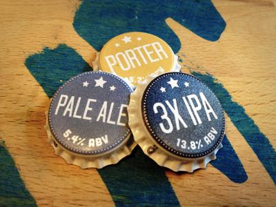 Bottle Caps beer caps stars