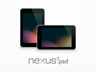 Nexus 7 PSD psd google nexus free template vector