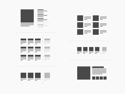 Content Layout Icons