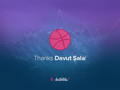 Thanks for the invite! vikes sala davut driibbble invite