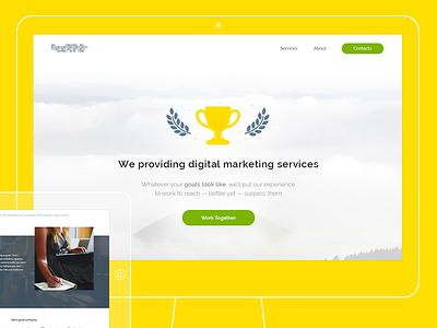 Landing marketing services services marketing digital page landing