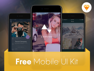Free Mobile UI Kit for an iOS Music app app music kit ui free mobile