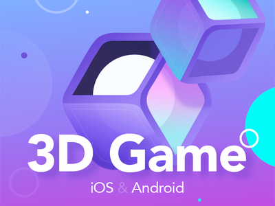 The Cover for 3D Mobile Game - Rentomania blue cube 3dgame monopoly game app rentomania androidgame mobile freegame iconillustration covergame illistration app