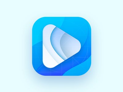 App Play Icon of a Video Platform play app-icon blue appstoreicon playicon appicon