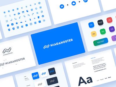 Niagahoster Brand Guideline design icon typography logo branding visual identity