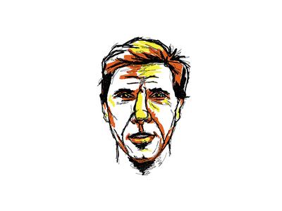 Eddy Merckx cyclist portrait concept illustration cycling