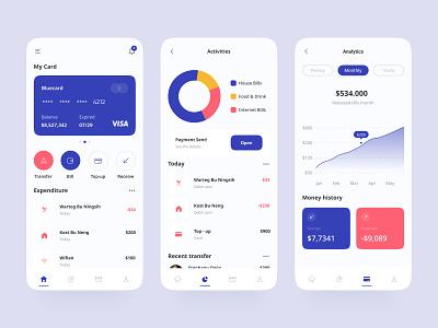 E-Wallet mobile app ui