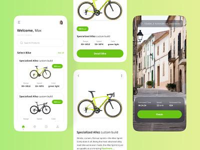 Bike Rent Mobile app design app ux ui