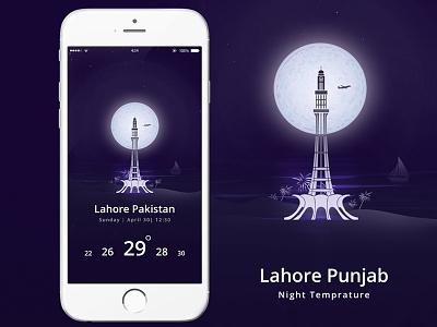 Lahore Weather App color ux ui lahore weather ios app