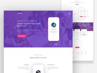 App Landing Page : Themeunix