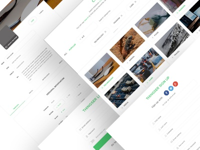 Signup Process_Thingser website design template web app ui ux landing page social blog news live posts clean fluent