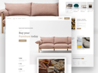 Furniture Ecommerce landing page
