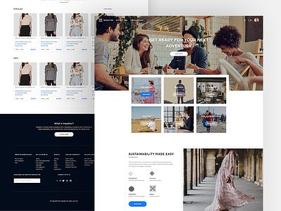Impakter_landing page template e-commerce web app website design sustainable features ux product design web ui landing page