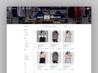 Impakter Shop Category template e-commerce web app website design sustainable features ux product design web ui category
