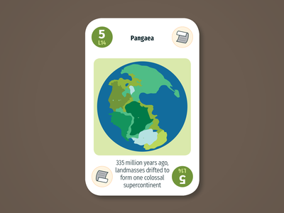 Diversity Deck – Lithosphere: Pangaea pangaea continent planet geology lithosphere maintenant science system earth sustainability product play game design card infographic illustration