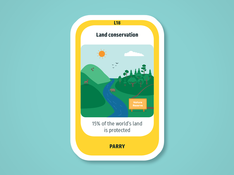 Diversity Deck – Lithosphere: Land conservation preservation park nature conservation land lithosphere maintenant science system earth sustainability product play game design card infographic illustration