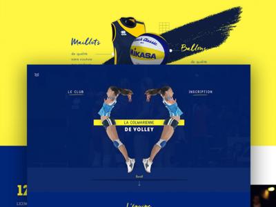 Hello dribbble ! volleyball sport schoolproject workshop website design identity ui homepage