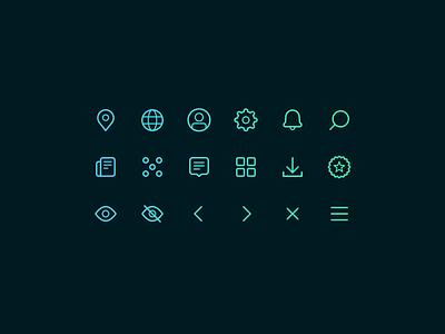 Initial Icon Set icon design iconography line icon icon set icon icons