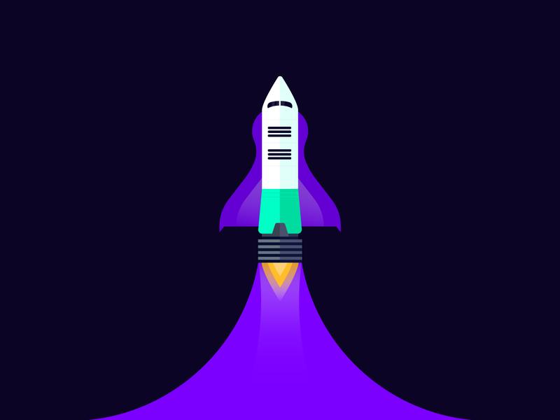 Blast Off! branding clean adventure illustration innovation exploration space rocket