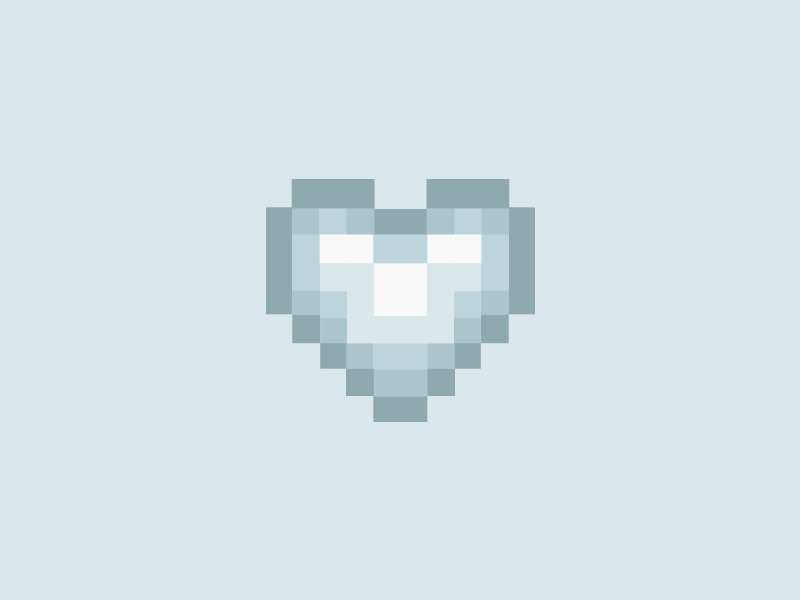 Pixel Heart blue digital detox pixel heart flat heart pixel