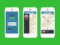 Autopods App UI Design