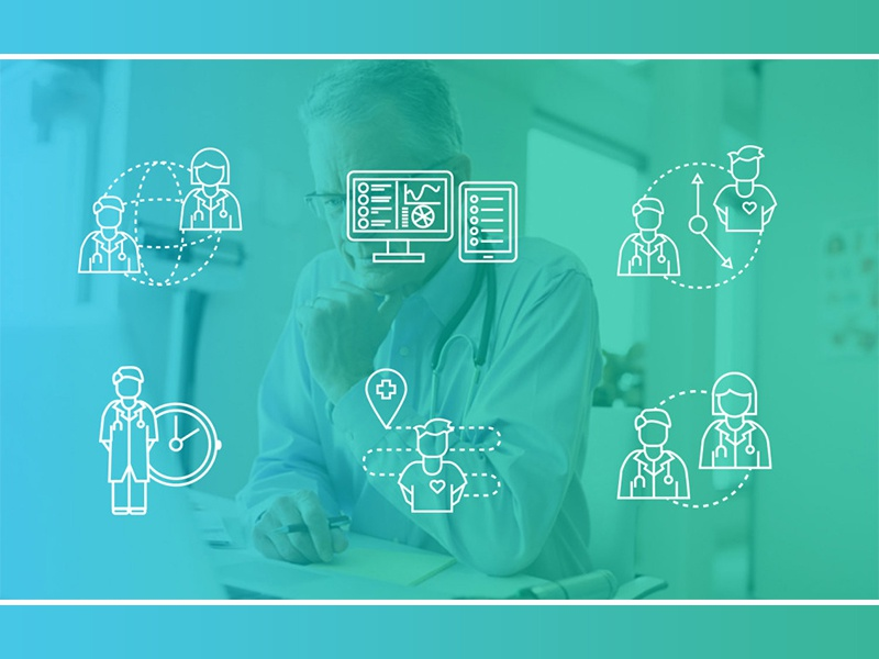 Treatspace UI Elements network ui design patient doctor illustration monoline medical icon design
