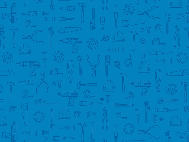 Tool 'n' Around Wallpaper blue app ui wallpaper illustration monoline icons tools