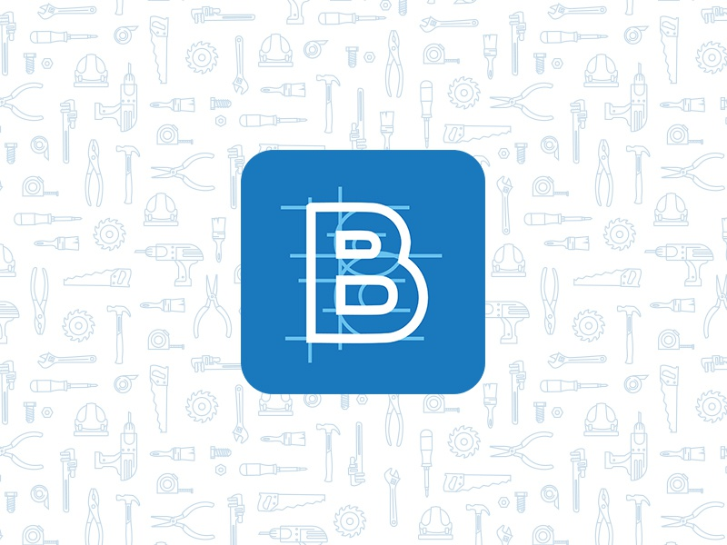Building Blocks b monoline flat illustration construction tools building app icon icon design logo design branding