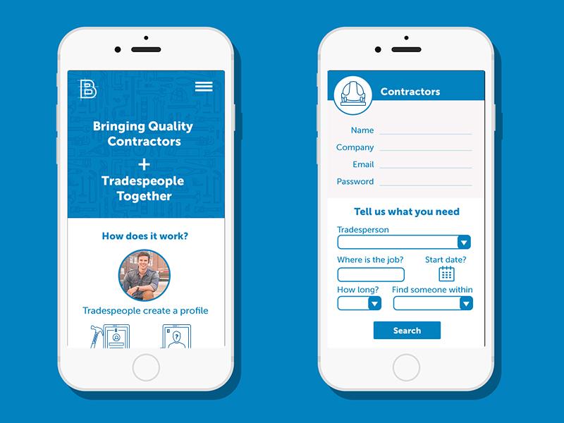 BB App Prototype branding ui design app design construction app app prototype
