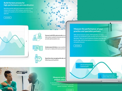Healthy Design Happy Client high fidelity website doctor specialist pcp green ui design web design health care
