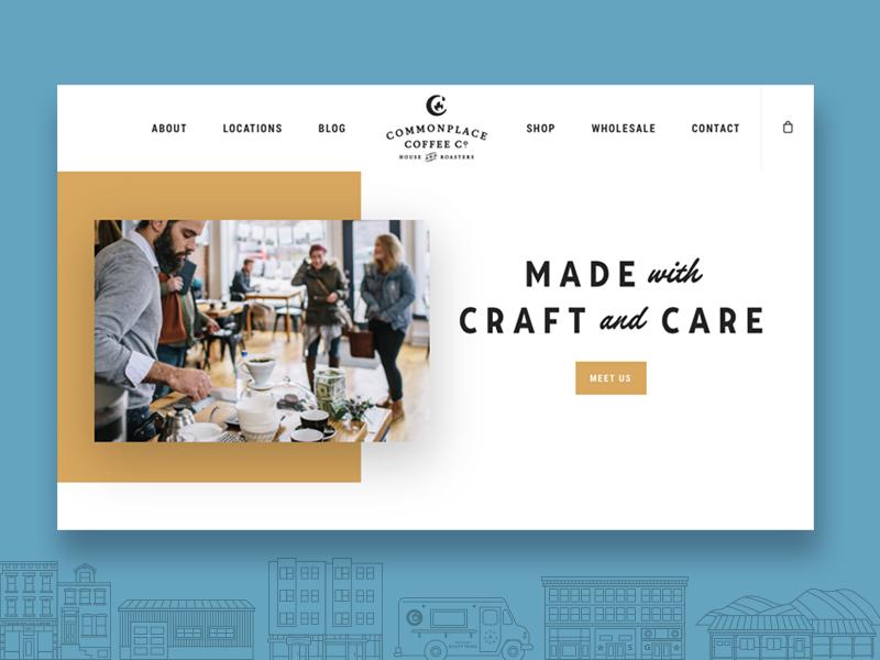 Commonplace Coffee Website website header commonplace website coffee
