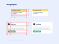 UI components - Design specs 🎨 grid layout product dashboard component ui app ux startup user interface interface design