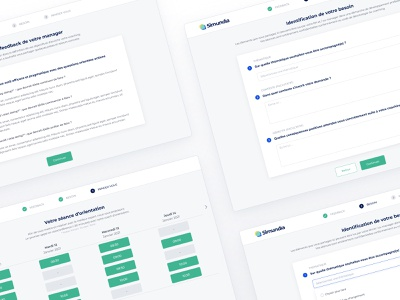 Simundia • Onboarding flow app onboarding dashboard component product startup interface design