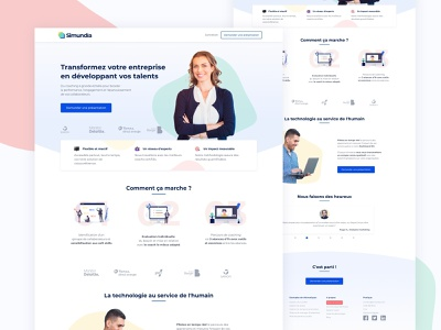Simundia 🚀 product landing coach website webdesign frenchtech startup ux ui interface design branding