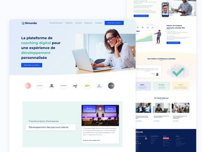 Simundia - Home Page startup webdesign ux user interface design ui branding landingpage landing interface homepage
