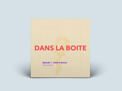 🎤 Dans la boite - Podcast cover exploration cover culture art podcast cover podcast illustration startup design branding