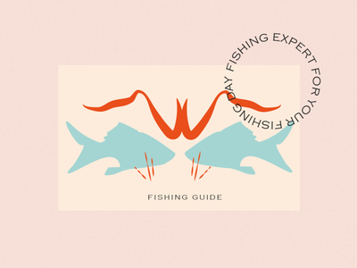COWES FISHING GUIDE vintage logo personal branding brand vector illustration brand identity folk vintage fishing branding logo design