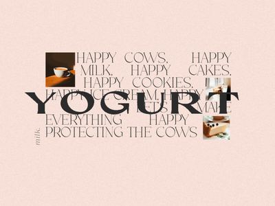 YOGURT collage editor editorial design togurt feminine pink illustration collage art card branding design
