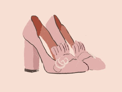 Oh My Shoes! pink illustrations shoes fashion illustration fashion design illustration