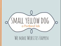 Business Card Template - Small Yellow Dog