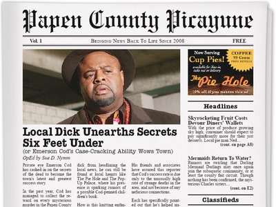 Papen County Picayune - Interactive Digital Newspaper rich media brand story interactive media web production information design front end design lean ux content strategy storytelling brand strategy omnichannel digital publishing editorial design ux research ux design web  design content design interactive design