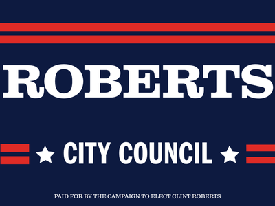 Roberts City Council campaign design political branding graphic  design political campaign