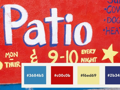 Color palette inspired by a restaurant wall site design graphic design ux design branding color palette