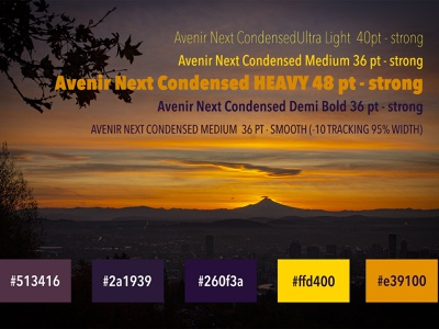 Sunrise-Inspired Color Palette nature photography digital color web design color theory branding digital photography color palette